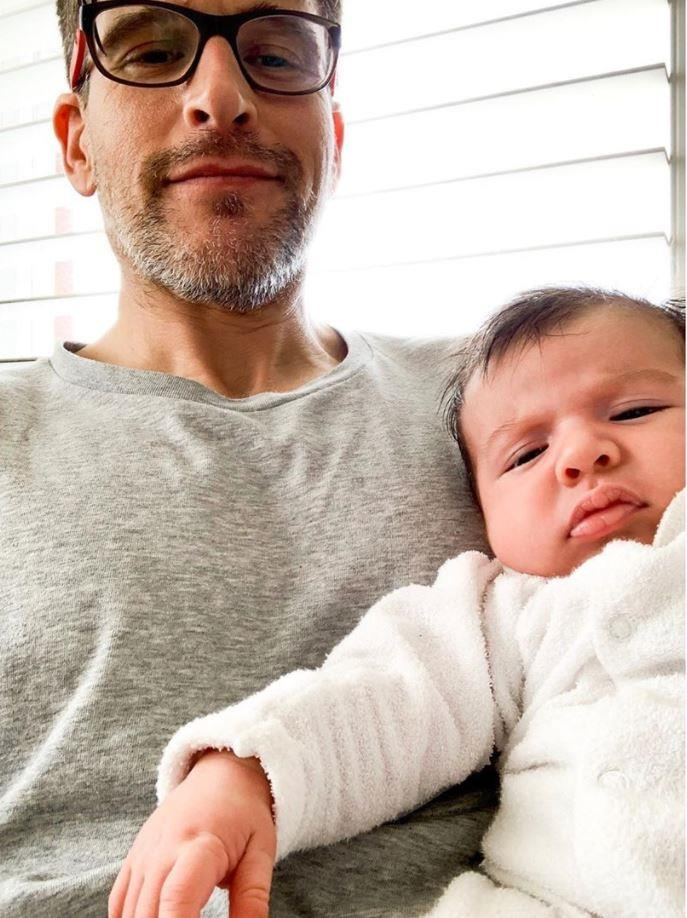 Osher and his gorgeous son, Wolfie.