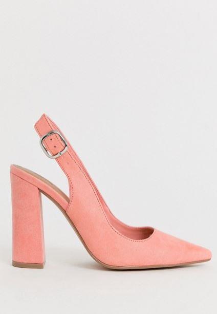 "ASOS Design penley slingback high heels, $70. [Buy them online here](https://www.asos.com/au/asos-design/asos-design-wide-fit-penley-slingback-high-heels-in-peach/prd/12509415|target=""_blank""|rel=""nofollow"")."