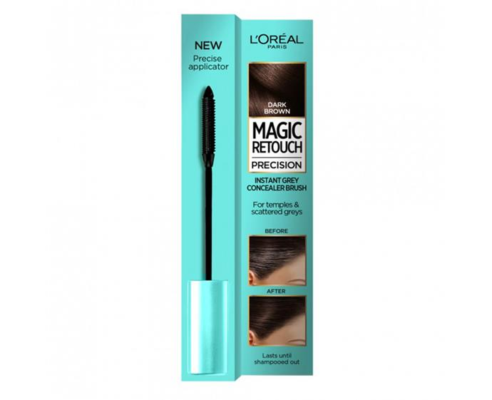 """**Magic Retouch Precision Instant Grey Concealer by L'oréal Paris, $17.99 at [Priceline](https://www.priceline.com.au/l-oreal-paris-magic-retouch-precision-dark-brown-instant-grey-concealer-br-8-ml