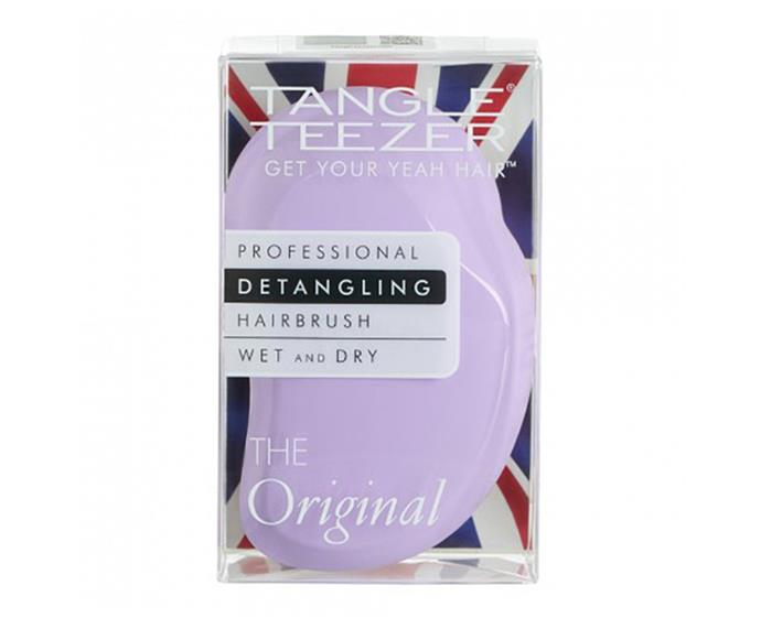"""**The Original detangling hairbrush in Sweet Lilac by Tangle Teezer, $19.99 at [Priceline](https://www.priceline.com.au/tangle-teezer-original-sweet-lilac-1-ea