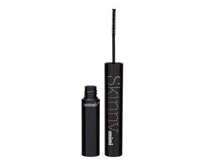 """**Skinny Mini Mascara by Australis, $17.95 at [Priceline](https://www.priceline.com.au/australis-skinny-mini-mascara-black-3-g