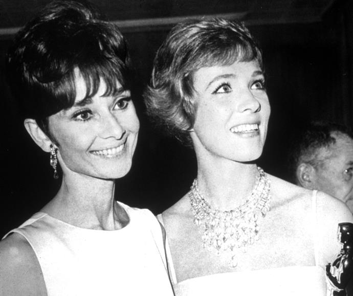 Julie lost the main role in the film version of *My Fair Lady* to Audrey Hepburn, leading to her being cast in *Mary Poppins*. Julie would go on to beat out Audrey for Best Actress at the 1965 Oscars.
