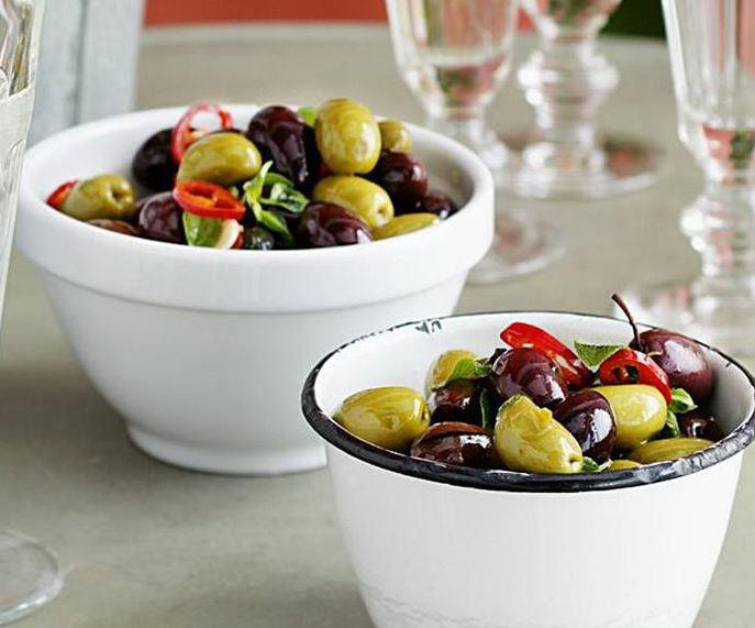 """Make the perfect tapas-style dish with these **warm olives with chilli**. [Get the recipe here.](https://www.womensweeklyfood.com.au/recipes/warm-olives-with-chilli-9106
