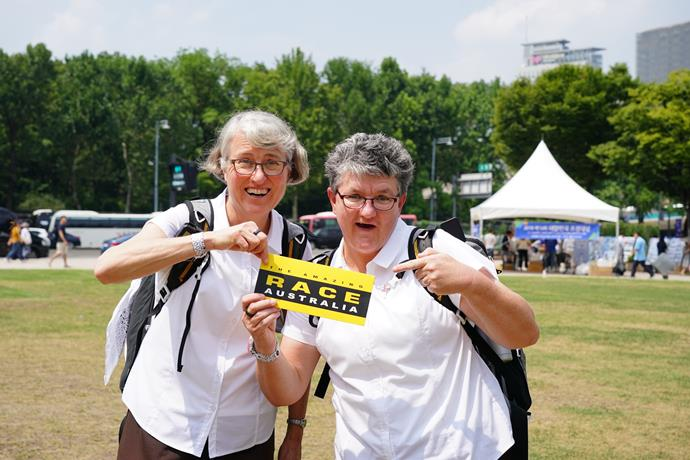 Judy and Therese loved being on *The Amazing Race.*