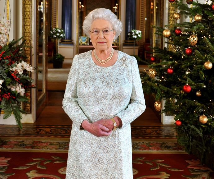 The Queen preparing to deliver her annual Christmas message.