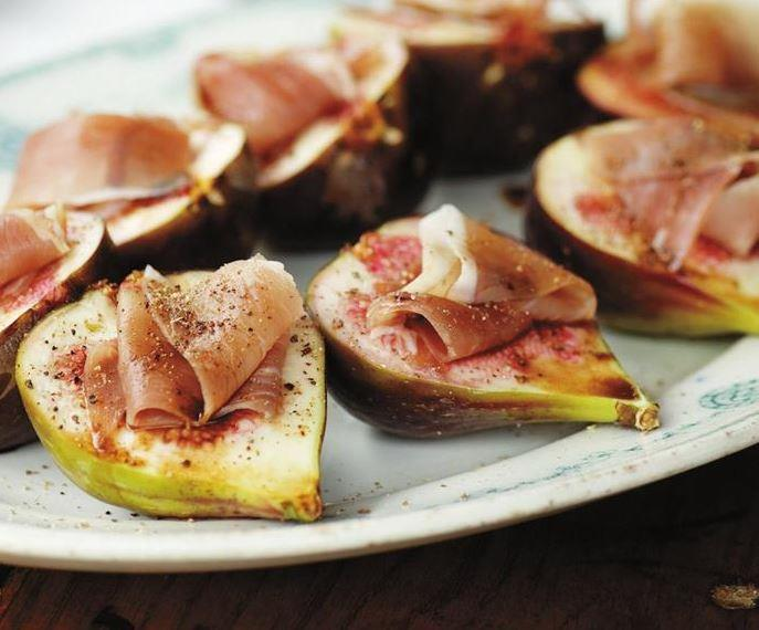 """These **figs with prosciutto** require just four ingredients but make an elegant canape option. [Get the recipe here.](https://www.womensweeklyfood.com.au/recipes/figs-with-prosciutto-10447