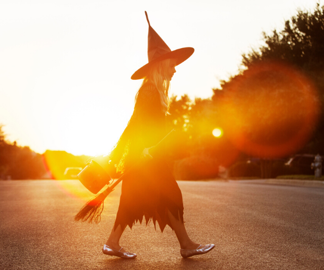 Q: Why do witches ride brooms? A: Because vacuum cleaners have short cords.