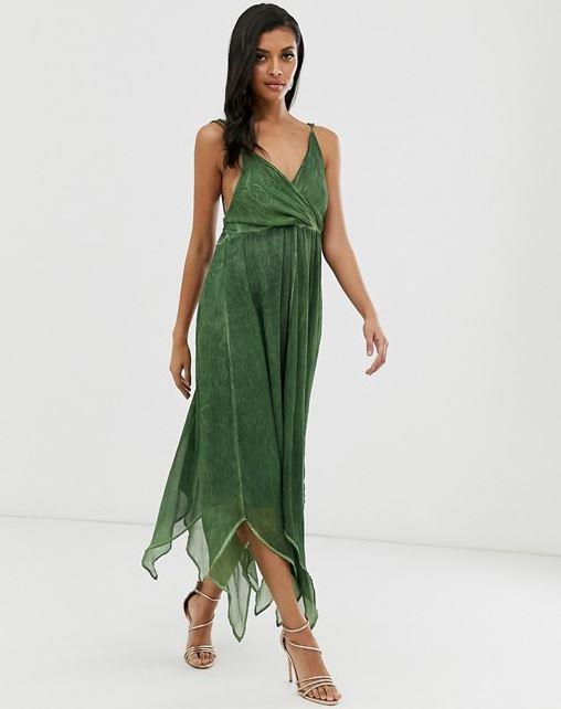 "ASOS DESIGN midi dress in washed chiffon, $40. [Buy it online here](https://www.asos.com/au/asos-design/asos-design-midi-dress-in-washed-chiffon-with-trimmed-back-detail/prd/11728246|target=""_blank""