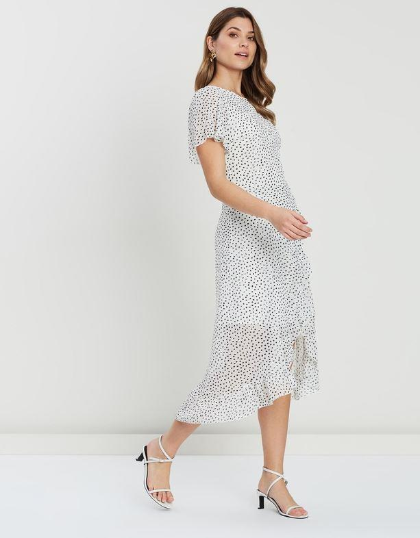 "Atmos&Here valerie chiffon dress, $47.99. [Buy it online via The Iconic here](https://www.theiconic.com.au/valerie-chiffon-dress-876265.html|target=""_blank""