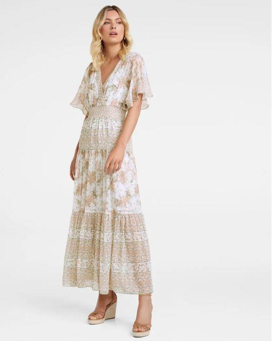 "Forever New darla tiered maxi dress, $169.95. [Buy it online here](https://www.forevernew.com.au/darla-tiered-maxi-dress-260550?colour=jacobean-blossom|target=""_blank""