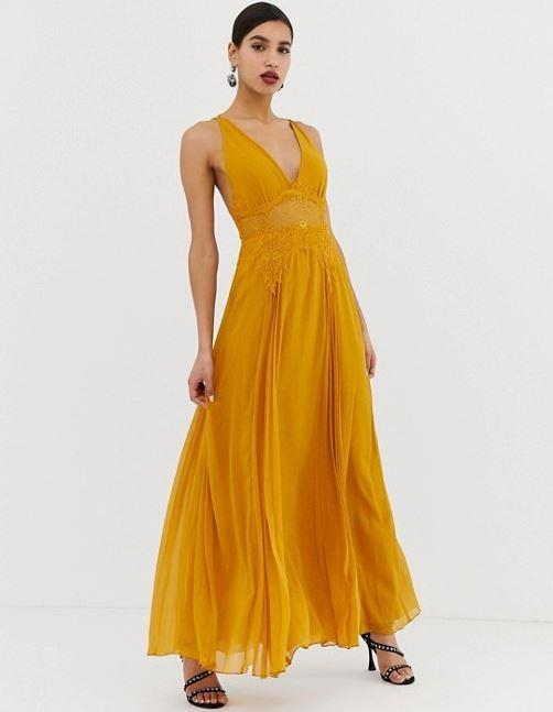 "ASOS DESIGN cami maxi dress in crinkle chiffon, $104. [Buy it online here](https://www.asos.com/au/asos-design/asos-design-cami-maxi-dress-in-crinkle-chiffon-with-lace-waist-and-strappy-back-detail/prd/10903526|target=""_blank""