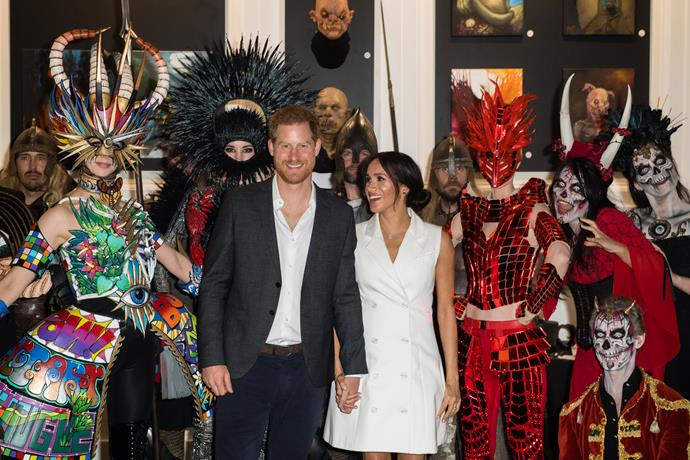 Prince Harry and Meghan Markle visited a quirky arts workshop in Wellington last year.