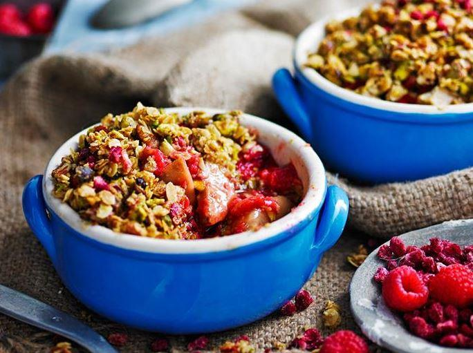 "No need to feel guilty about having dessert! These delicious [**ginger, pear and pistachio crumbles**](https://www.womensweeklyfood.com.au/recipes/ginger-pear-and-pistachio-crumbles-29227|target=""_blank"") can be adapted for vegan and paleo diets."