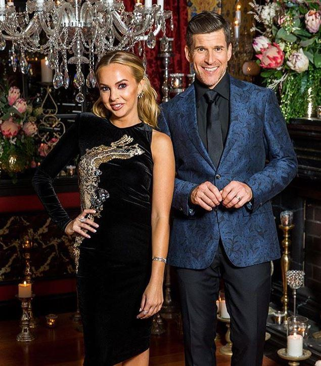 In episode eight, Angie wore a unique velvet dress featuring one long sleeve and embellished with a golden print. Osher was clearly a fan!
