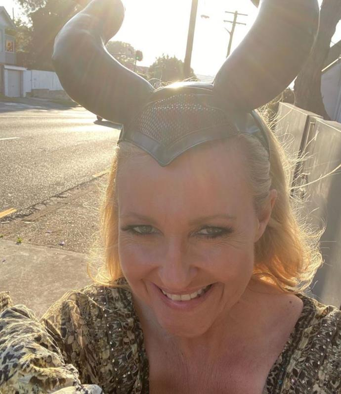 *Studio 10*'s Angela Bishop also donned some Maleficent style horns.