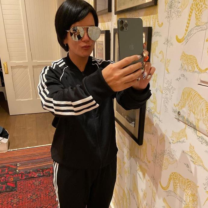 Meanwhile Lily Allen decided to dress up as Kim's momager, the one and only Kris Jenner.