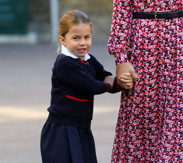 Princess Charlotte on her first day of school in 2019.