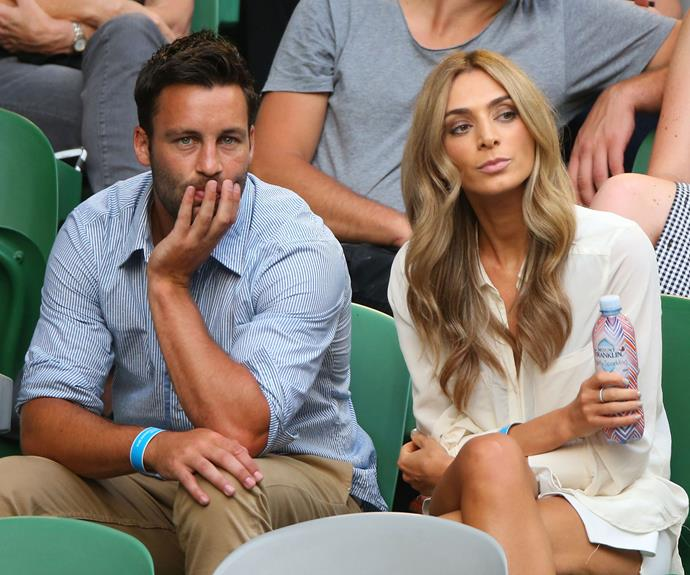 Jimmy and Nadia looking tense while at the Australian Open in January this year.