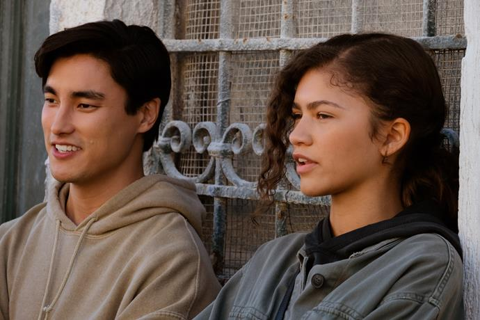 Remy Hii with Zendaya in *Spider-Man: Far From Home.*