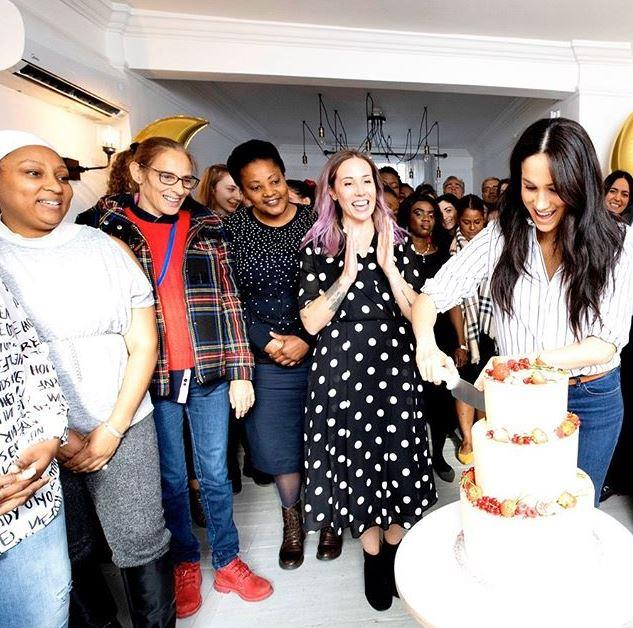 Meghan was in her element as she helped to open the bakery's brand new Camden location.