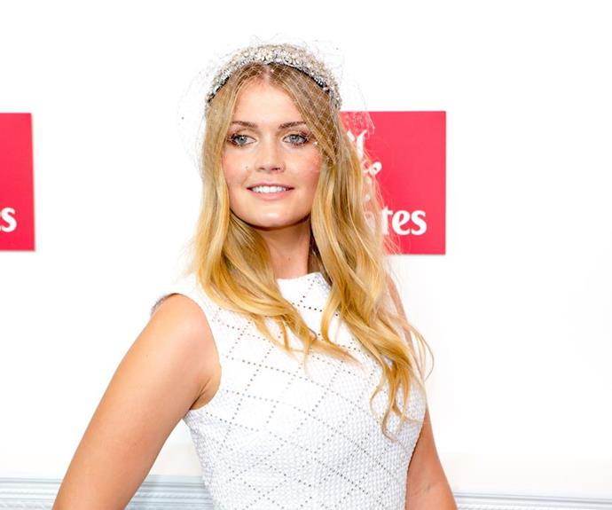 Lady Kitty attended the Melbourne Cup in this heavenly white ensemble in 2015.