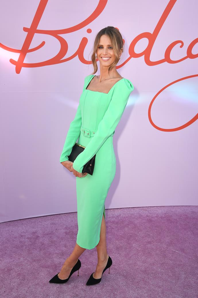 Brit Davis looks fresh in this minty green ensemble.