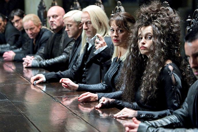Helena Bonham Carter in *Harry Potter*.