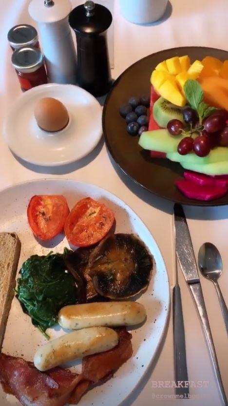Jesinta's breakfast looks delish!