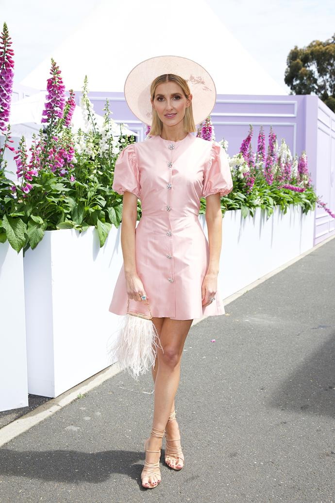 Kate Waterhouse made yet another strong case for pink at Flemington Racecourse.