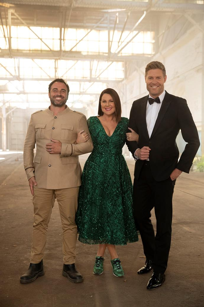 Miguel Maestre, Julia Morris and Dr Chris Brown in action on *IAC.*