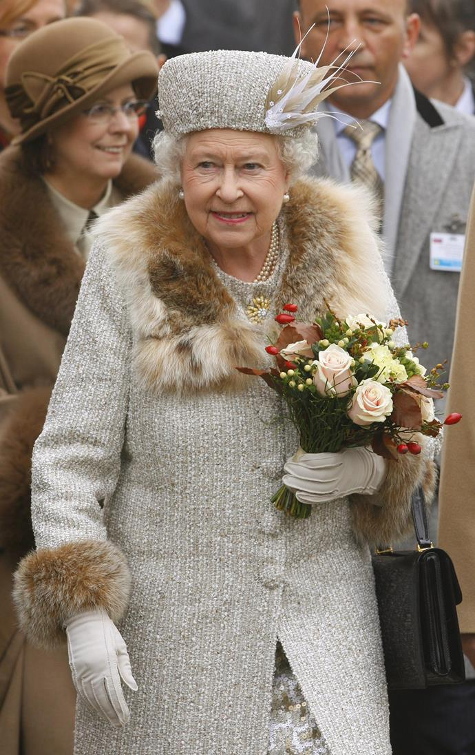 The Queen, pictured here in Slovakia in 2008, will no longer wear fur, it has been revealed.