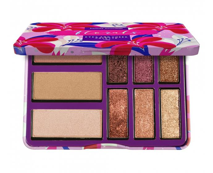 "**Beauty Essentials Florals Eyes and Cheek Palette, $10 at [Priceline](https://www.priceline.com.au/brand/beauty-essentials/beauty-essentials-florals-eyes-and-cheek-palette-18-g|target=""_blank""