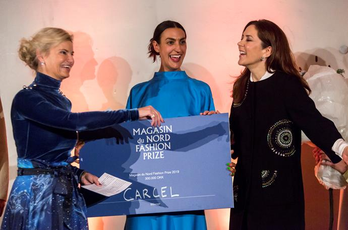 The coveted award went to Veronica D'Souza (centre) who kick-started a brand to help women in prisons in some of the world's poorest countries.