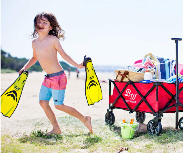 "**Beach wagon:** The trend for collapsible, portable wagons on the Aussie market has been heaven sent for families. Whether you want to lug the kids or all of the gear that they come with, having four wheels that allow you to drag over sand, rocks, [through music festivals](https://www.nowtolove.com.au/parenting/family/family-friendly-music-festivals-54179|target=""_blank"")  and more make them a perfect transport solution for parents with their hands full. However not all wagons are created equal! Aussie brand Buddy Wagon are known for their durability and quality which means they won't be letting you down mid-journey."