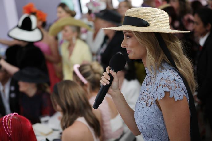 *Bachelor* OG Anna Heinrich was front and centre of the media spotlight this week amid split rumours from husband Tim Robards - but he was quick to shut them down. Plus, Anna looked gorgeous in a blue floral lace creation, paired with a cute wide-brim hat. Stunning!