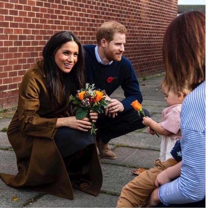 Prince Harry and Duchess Meghan have always been naturals with the kiddies!