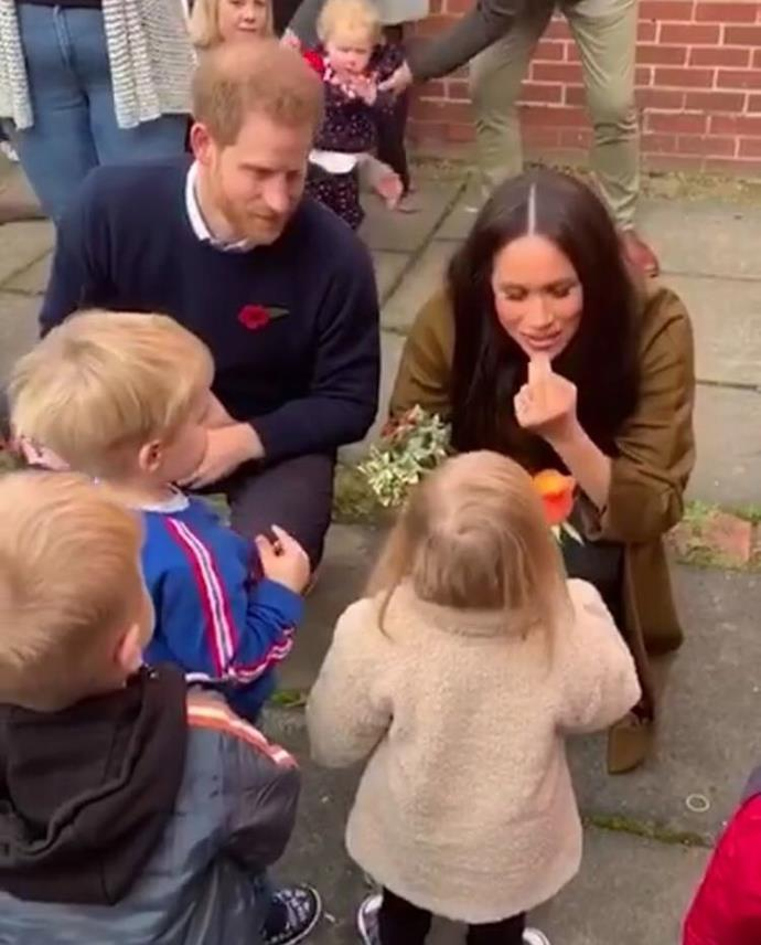 Archie's baby teeth have come through! The royal parents shared a cute moment with some of the little ones.