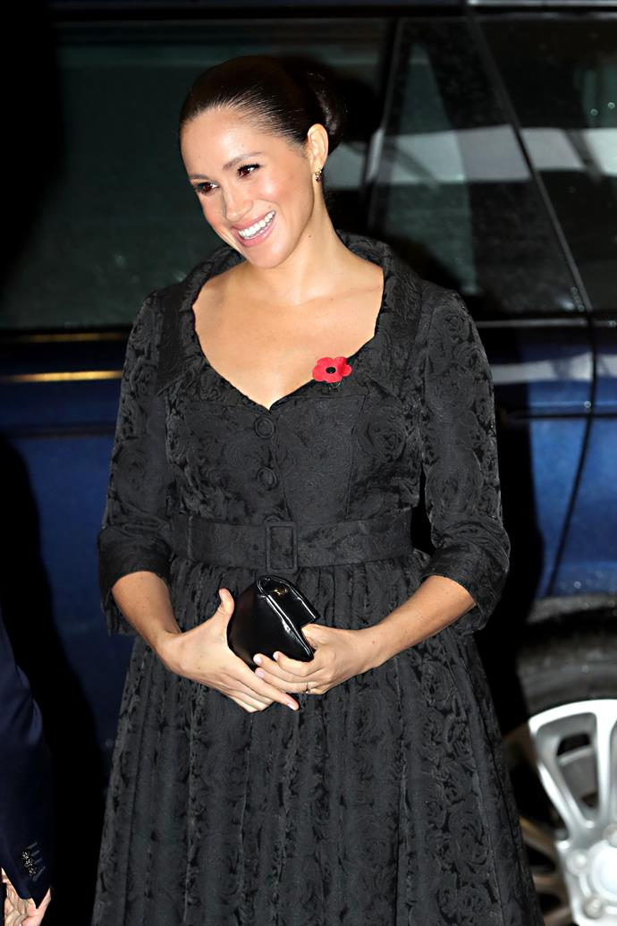 Meghan was glowing on Saturday evening as she attended the Festival of Remembrance at Royal Albert Hall.