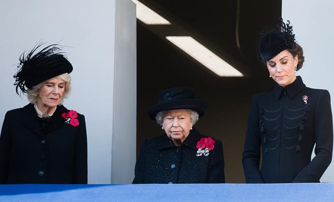 Camilla, Queen Elizabeth and Kate looked beautiful at the moving service.