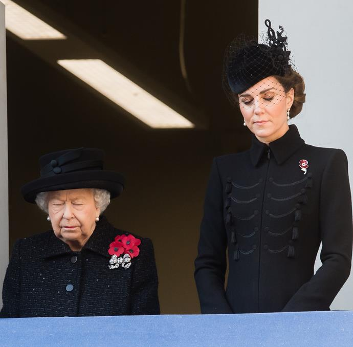 The royals paid their respects to fallen servicemen and servicewomen.