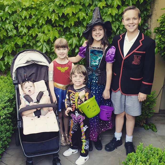 Lauren Newton and Matt Welsh' five children, Sam (right) who is often in touch with uncle Matthew.