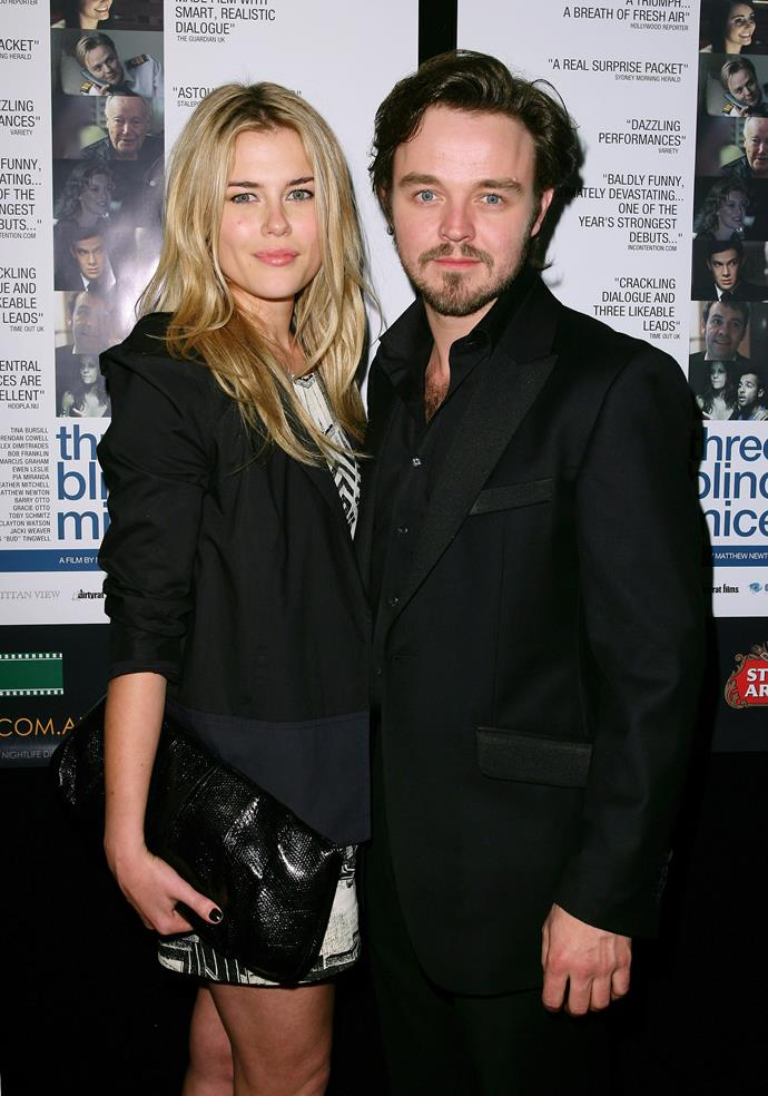 Rachel Taylor and Matthew Newton at a film premiere in 2004.