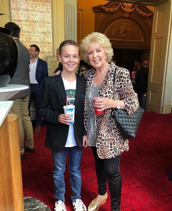 Patti Newton and grandson, Sam in February.