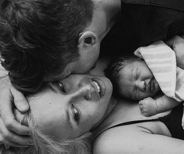 "**Osher Gunsberg** <br><br> Channel Ten TV personality [Osher Gunsberg's wife Audrey Griffen went into labour](https://www.nowtolove.com.au/parenting/celebrity-families/osher-gunsberg-wife-audrey-birth-baby-57678|target=""_blank"") while he was filming *The Masked Singer*. He's now a dad to baby Wolfgang."