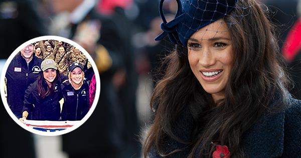 Rare army photo of Meghan Markle & Hollywood actors revealed by Palace | Australian Women's Weekly