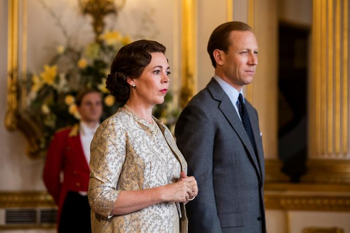 Olivia Colman and her on-screen husband, Tobias Menzies.