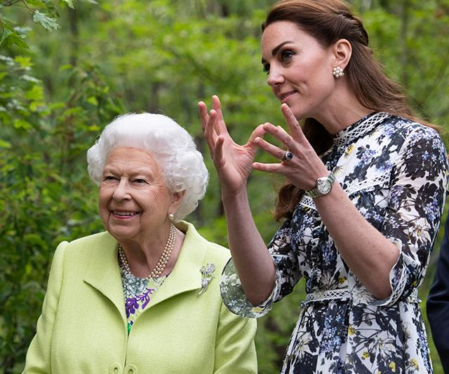 The Queen is reportedly impressed with how Duchess Catherine is upholding herself as a royal.