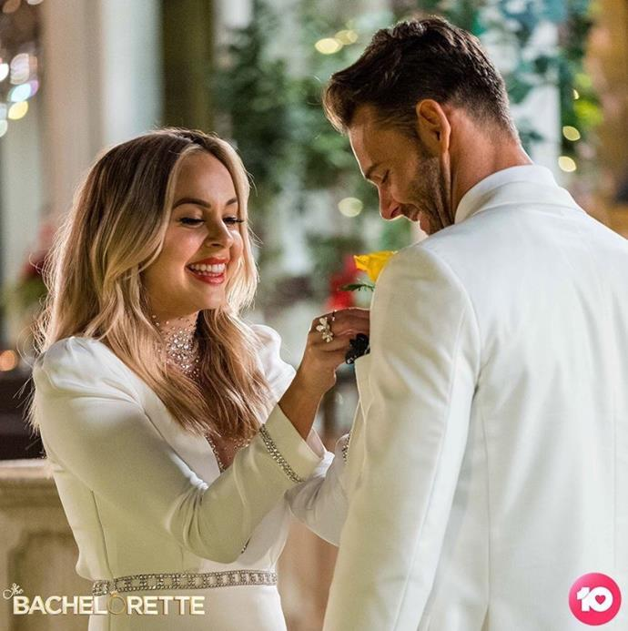 """Clearly """"wifey"""" material, Carlin was awarded the """"first impression"""" rose that gave him a full 24-hour date with Angie."""