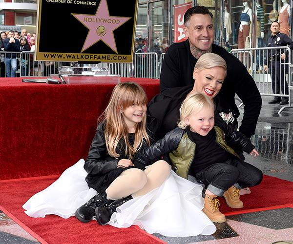 It was a family affair when Pink accepted her star on the Hollywood Walk of Fame.