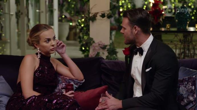 """Things took a bumpy turn when [Jamie told Angie](https://www.nowtolove.com.au/reality-tv/the-bachelorette-australia/bachelorette-jamie-doran-intense-59941